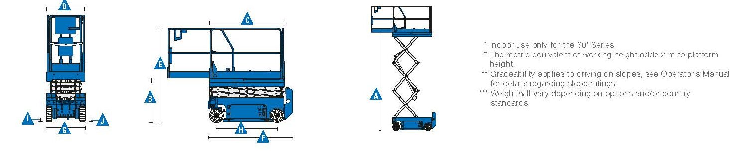 7.8m Genie Scissor GS1932 available to hire